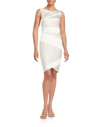 Jax Satin And Lace Sheath Dress Ivory