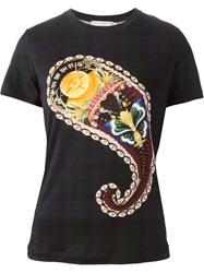 Mary Katrantzou Paisley Print T Shirt Blue
