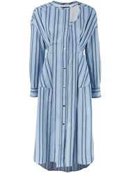 Isabel Marant Selby Deconstructed Shirt Dress Blue