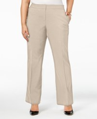 Calvin Klein Plus Size Wide Leg Dress Pants Latte