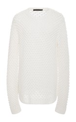 Jenni Kayne Textured Crew Neck Sweater White