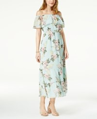 Maison Jules Off The Shoulder Flounce Dress Created For Macy's Mint Powder