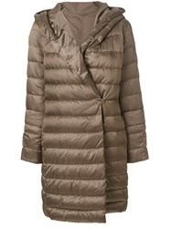 Max Mara 'S Padded Zipped Coat Feather Down Polyamide Polyester Nude Neutrals