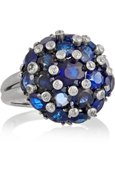 Fred Leighton 1940S Platinum Sapphire And Diamond Ring