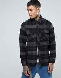 Brixton Bowery Check Shirt In Standard Fit Black
