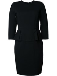 Steffen Schraut Peplum Dress Black