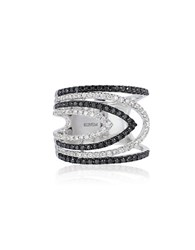 Bh Multi Color Corp. Diamond And 14K White Gold Ring Silver
