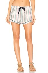 Solid And Striped The Tracey Piped Short Blue