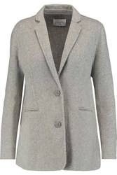 Sandro Valentine Wool Blend Jacket Light Gray