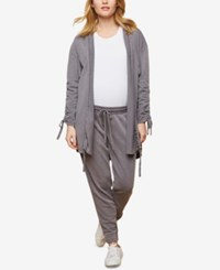 Motherhood Maternity Under Belly Jogger Pants Grey