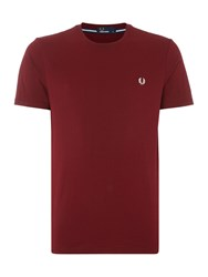 Fred Perry Men's Plain Tee With Laurel Maroon