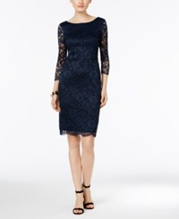 Inc International Concepts V Back Lace Sheath Dress Only At Macy's Deep Twilight