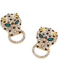 Thalia Sodi Gold Tone Pave Leopard Head Stud Earrings Only At Macy's