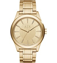 Armani Exchange Gold Plated Bracelet Watch