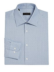 Ike By Ike Behar Regular Fit Plaid Dress Shirt Blue