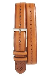 Nordstrom Men's Big And Tall Men's Shop Eastwick Leather Belt Cognac