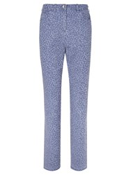 Viyella Animal Jacquard Print Long Fit Jeans Blue