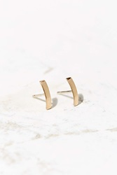 Urban Renewal Upper Metal Class Inverted Embrace Earring Bronze