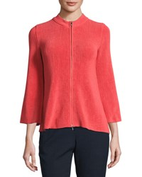 Armani Collezioni Lisse Trapeze Sleeve Zip Jacket Matisse Red