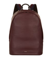 Paul Smith Leather Oval Backpack Red