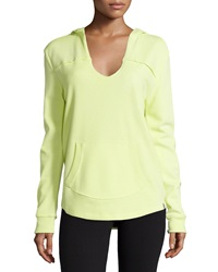Marc Ny Performance Scoop Neck Hooded Pullover Sweatshirt Citrus