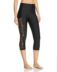 Onzie Stunner Capri Leggings Black Lace