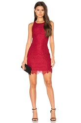 Bobi Black Lace Bodycon Dress Red