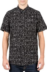 Volcom Men's Invert Geo Cotton Blend Woven Shirt
