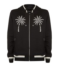 Dolce And Gabbana Palm Tree Hooded Sweater Male Black