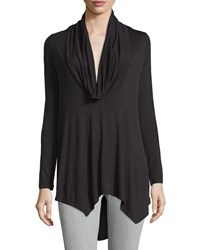 Neiman Marcus Cowl Neck High Low Tunic Black