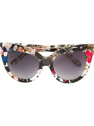 Linda Farrow Gallery Floral Cat Eye Sunglasses Grey