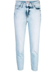 L'agence Cropped Skinny Jeans Blue