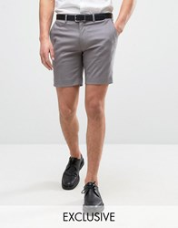 Only And Sons Skinny Smart Shorts Grey