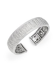 Judith Ripka Sterling Silver Woven Cuff