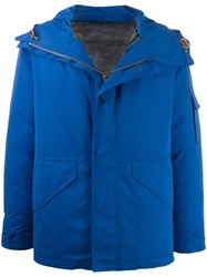 Mr And Mrs Italy Zip Up Hooded Jacket Blue
