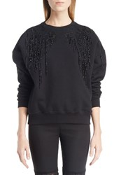 Alexander Mcqueen Women's Bead And Lace Embellished Sweatshirt