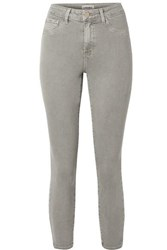 L'agence Margot Cropped High Rise Skinny Jeans Gray
