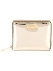 Stella Mccartney Mini Top Zip Wallet Metallic