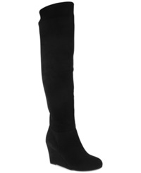 Chinese Laundry Unbeleivable Over The Knee Wedge Boots Women's Shoes