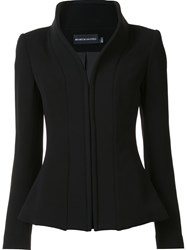 Brandon Maxwell Stand Up Collar Suit Jacket Black