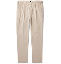 Altea Tapered Cotton Blend Corduroy Drawstring Trousers Neutrals