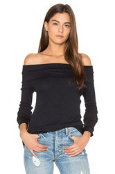 Bobi Modal Thermal Off Shoulder Top Black