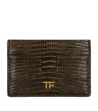 Tom Ford Leather Card Holder Green