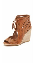 Jeffrey Campbell Rodillo Wedge Sandals Tan