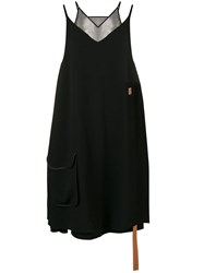 Loewe Trapeze Layered Dress Black