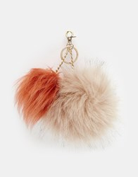 Urbancode Double Faux Fur Pom Pom Bag Accessory Rustpalebrown