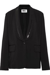 Maison Martin Margiela Mm6 Stretch Crepe Blazer Black