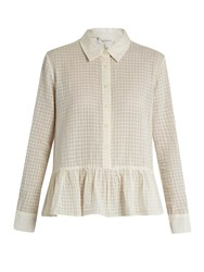 The Great Ruffle Point Collar Cotton Shirt White