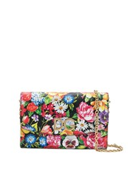 Dolce And Gabbana Floral Print Wallet Bag Black