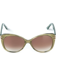 Roland Mouret 'Zeppo' Sunglasses Brown